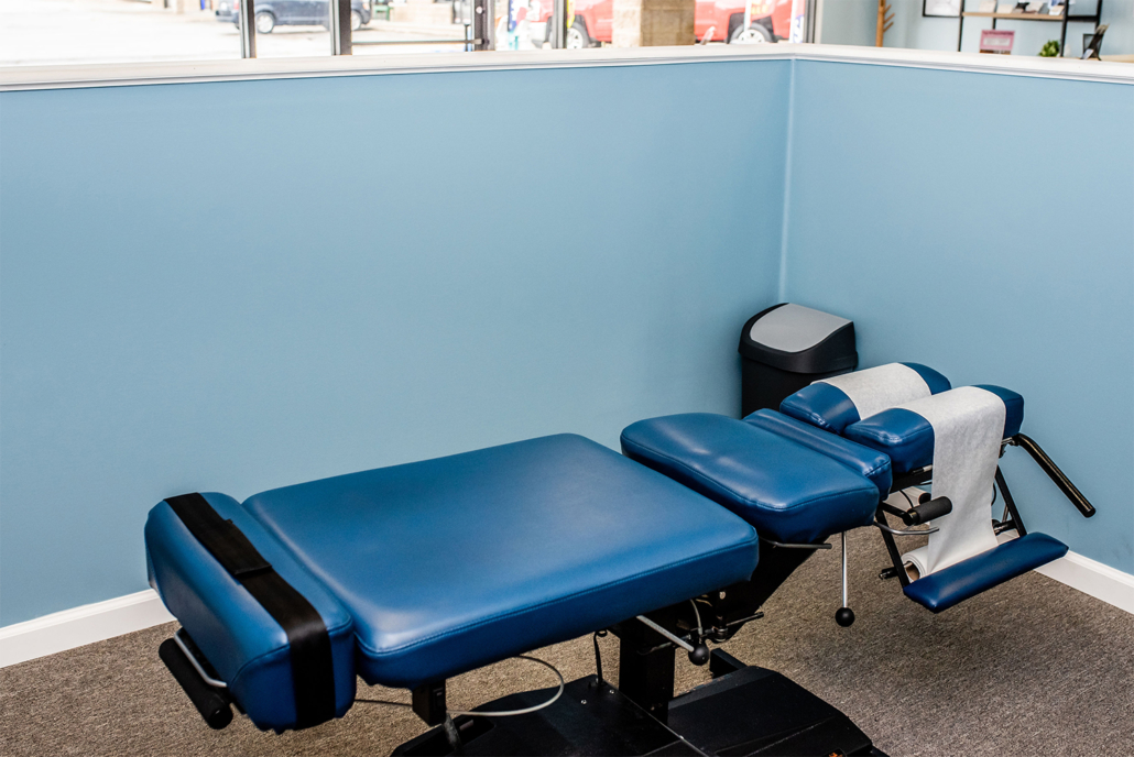 Chiropractor Table Blue