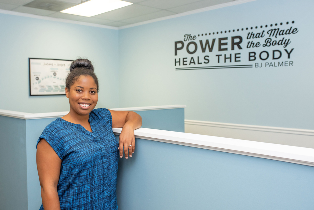 Dr. Ramica Ford by Half Wall